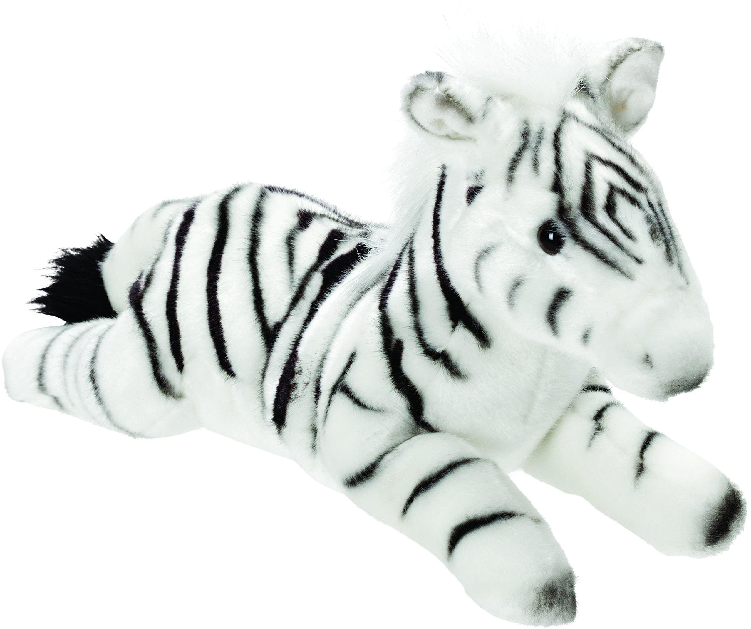 Gifts 12124 leżący zebra przytulanka 30 cm, Classic, 30 cm