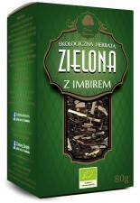 Herbata zielona z IMBIREM liściasta BIO 80 g Dary Natury