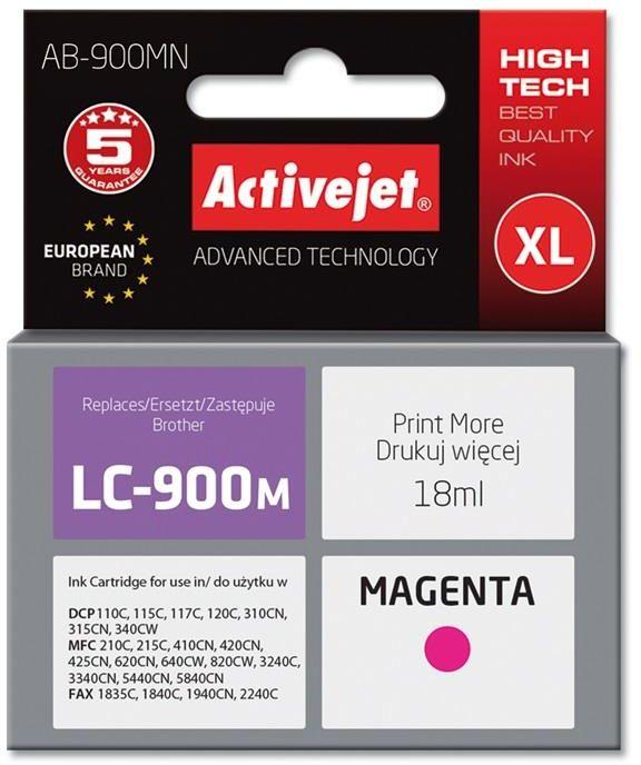 Tusz Activejet AB-900MN (zamiennik Brother LC900M; Supreme; 17 ml; czerwony)