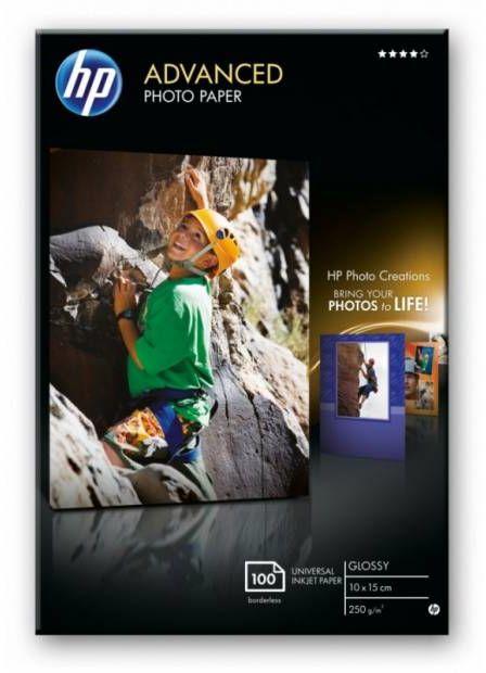 Papier 10 x 15cm HP Advanced Photo, błyszczący, 250g, bez marginesów, (100 ark) (Q8692A)