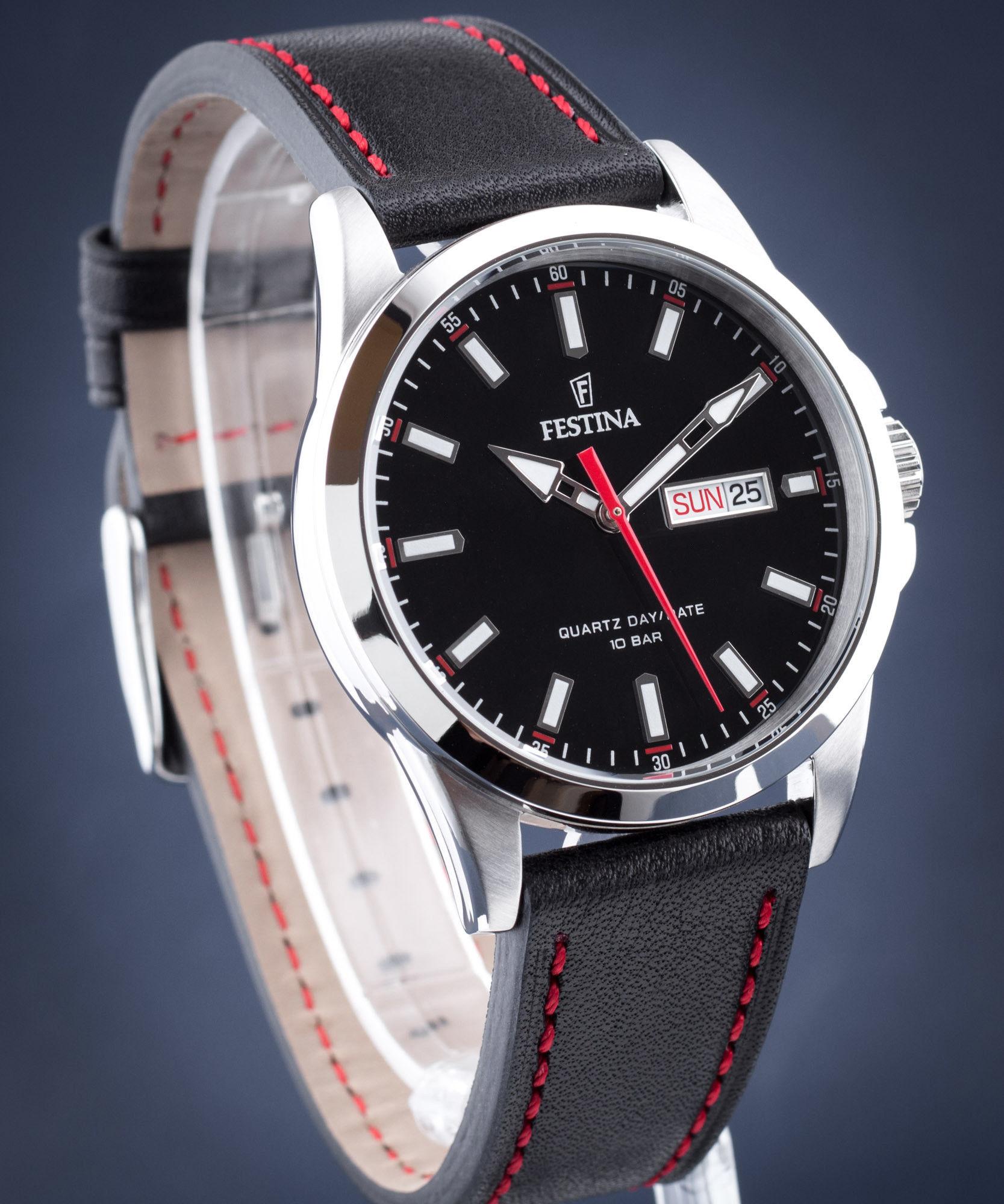Zegarek Festina F20358-4 Classic Strap - CENA DO NEGOCJACJI - DOSTAWA DHL GRATIS, KUPUJ BEZ RYZYKA - 100 dni na zwrot, możliwość wygrawerowania dowolnego tekstu.