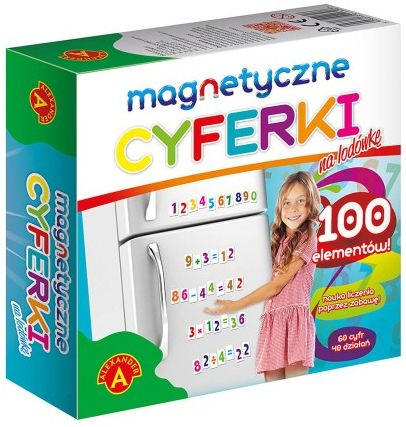 Cyferki magnetyczne na lodówkę
