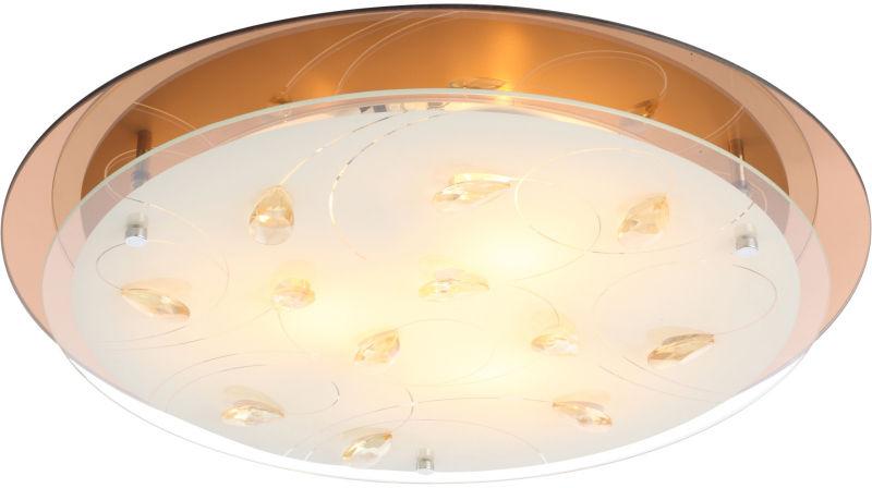 Globo AYANA 40413-3 plafon lampa sufitowa złota LED 3xE27 46cm
