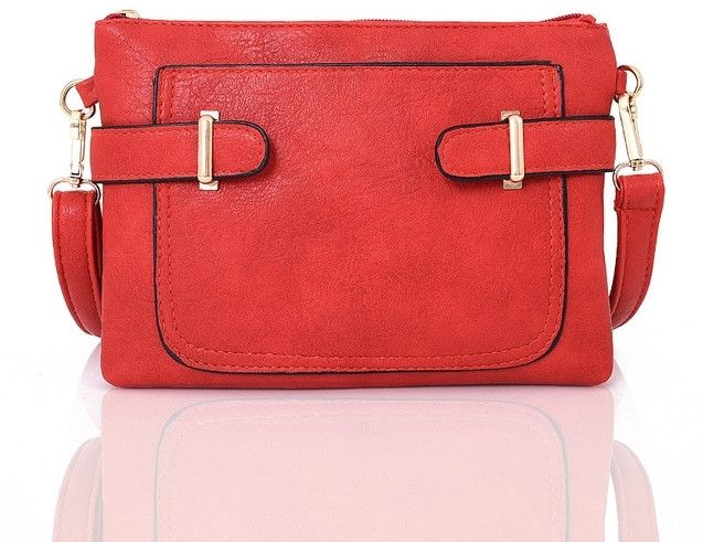 Mini torebka listonoszka czerwona ANYKS