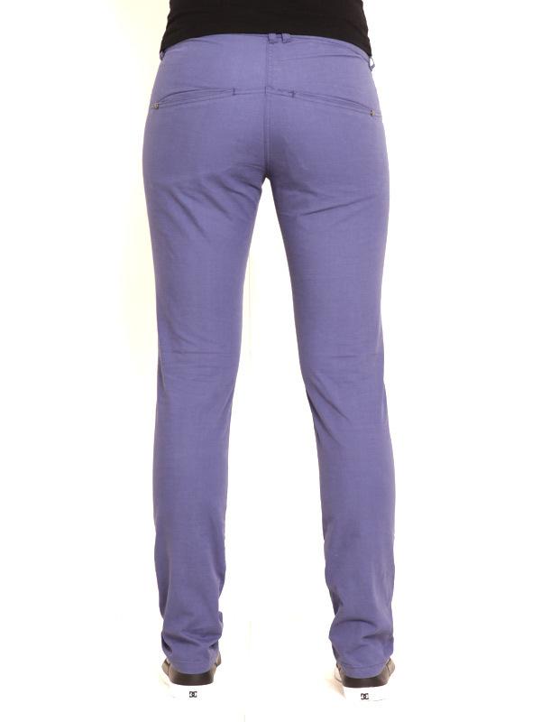 Vehicle DOREN blue spodnie lniane kobiety