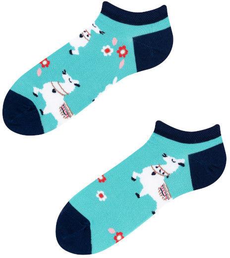 Stopki, Alpaka Low, Todo Socks, Lama, Kwiaty, Kolorowe