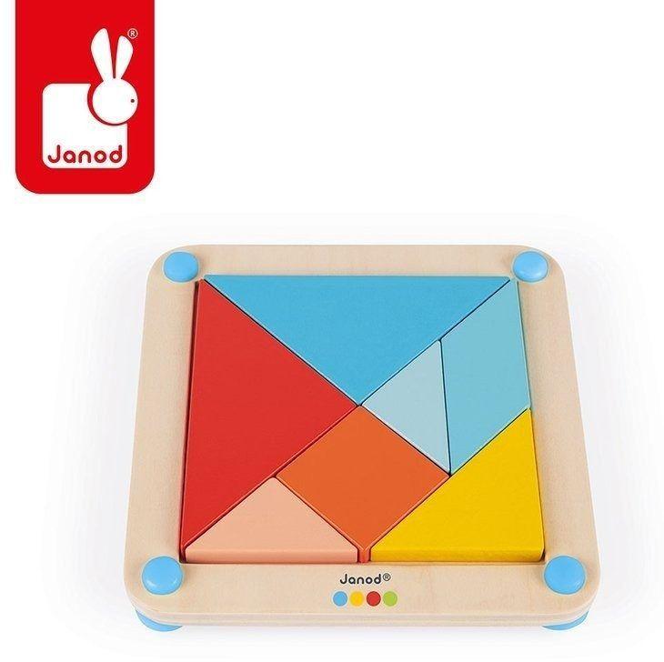 Drewniana układanka-tangram essentiel, janod