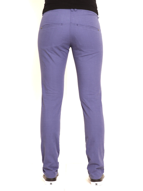 Vehicle DOREN blue spodnie lniane kobiety - 31