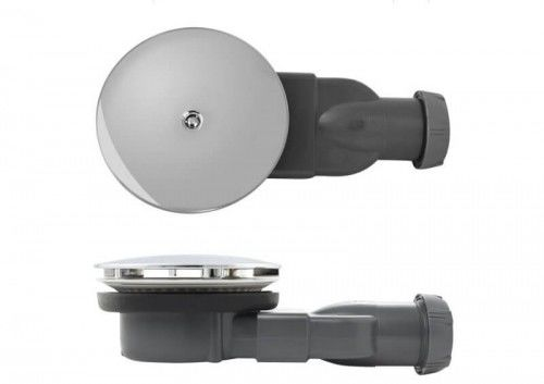 Syfon odpływ brodzikowy SLIM Wirquin 90 z silikonową membraną