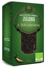 Herbata zielona z ŻEŃ-SZENIEM BIO 80 g Dary Natury