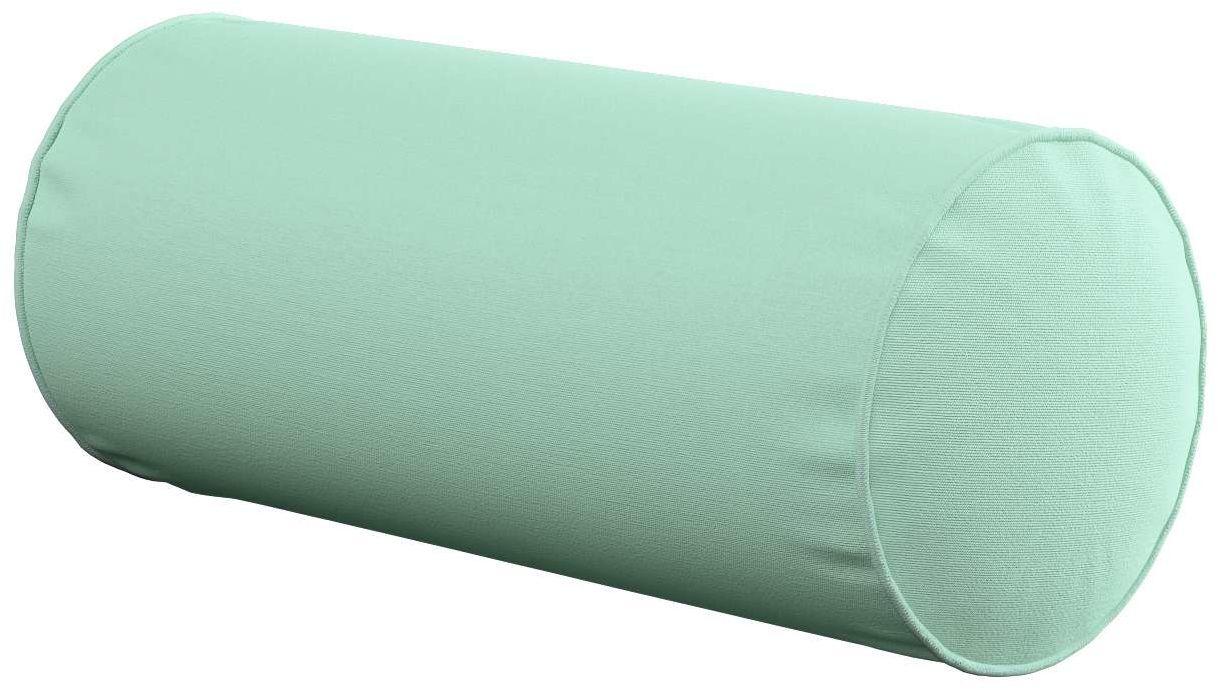 Poduszka wałek prosty, miętowy, Ø16  40 cm, Loneta