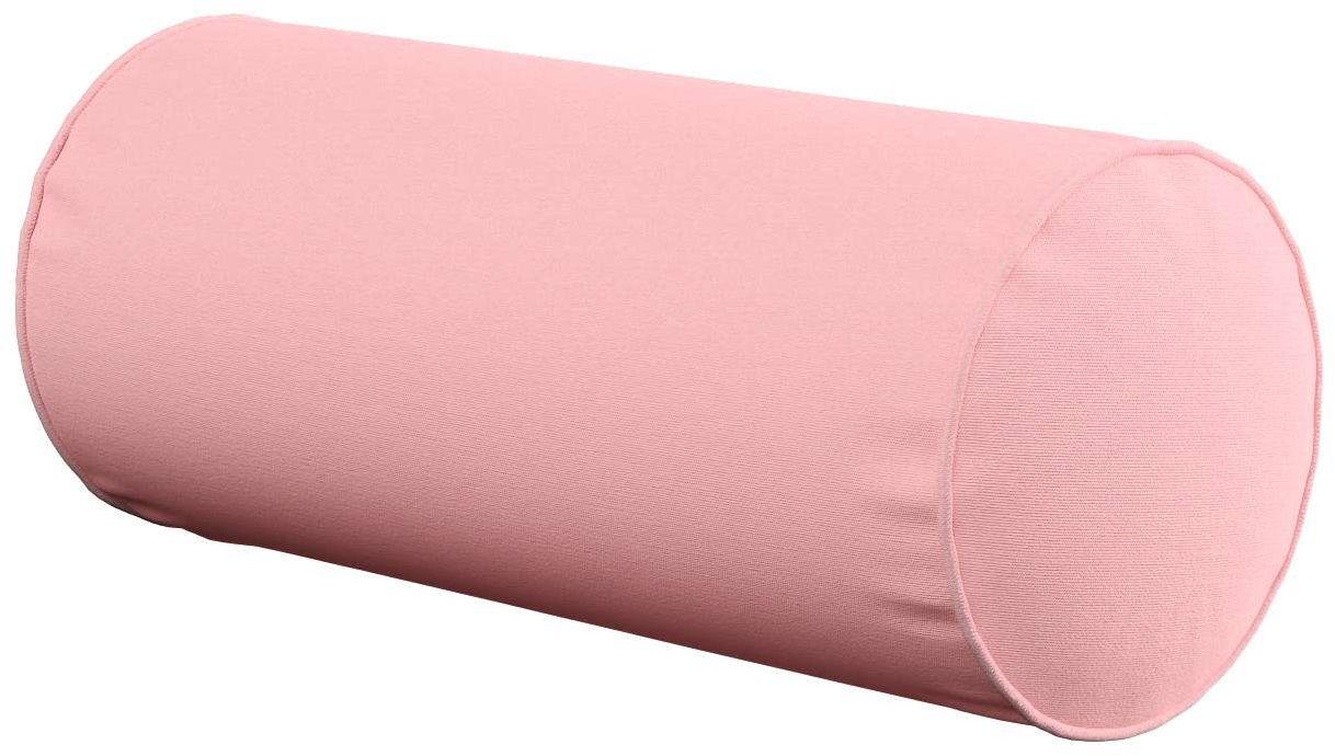 Poduszka wałek prosty, pudrowy róż, Ø16  40 cm, Loneta