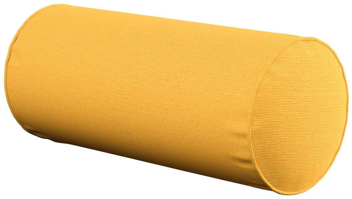 Poduszka wałek prosty, żółty, Ø16  40 cm, Loneta