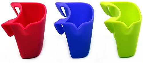 Metaltex Półka na torebki herbaty, zestaw 3 sztuk, silikon, cherry/bamboo/orchid, 4 x 7,5 x 4,5 cm, 3 sztuki