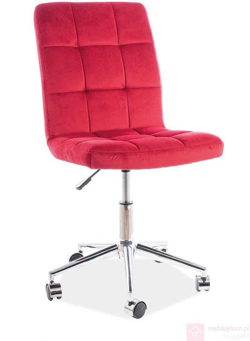 KUPON 10% NA STRONIE  Fotel obrotowy Q-020 Velvet Signal Bordowy