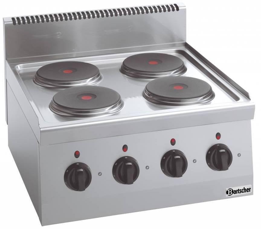 Bartscher Kuchnia elektryczna nastawna 4 płytowa 8000W - kod 131734
