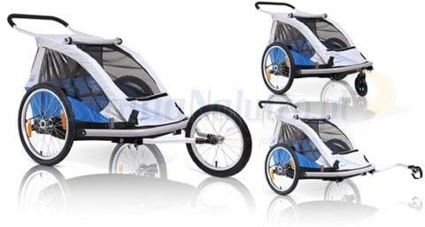 Przyczepka rowerowa dla dzieci XLC BS C03 DUO2 3w1 wózek buggy + jogger niebieska