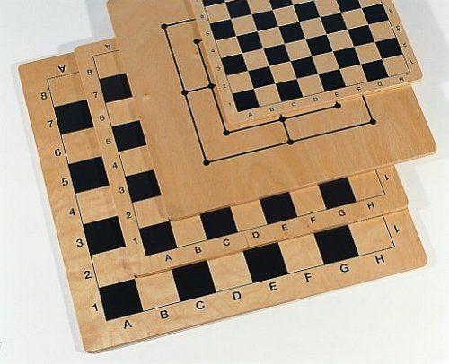 Weiblesspiel 02081 - szachownica z drewna brzozowego, 30 x 30 cm