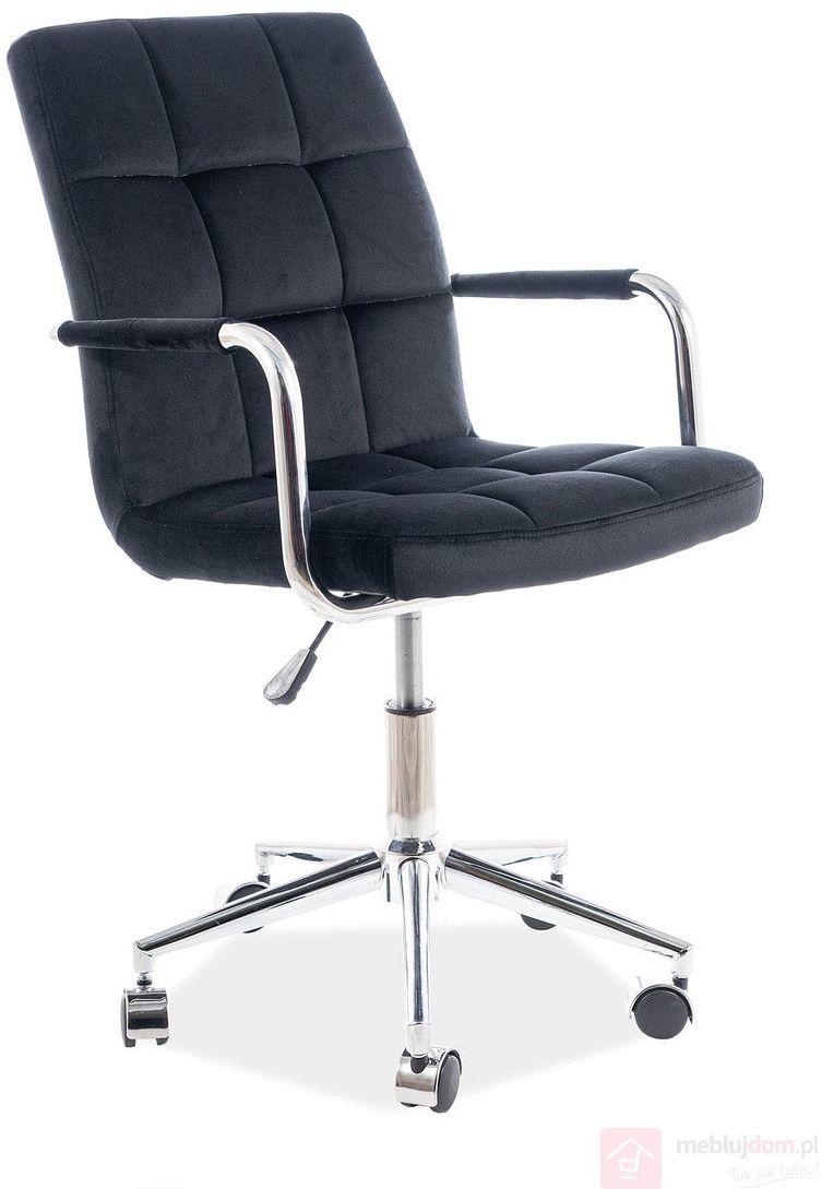 KUPON 10% NA STRONIE  Fotel obrotowy Q-022 Velvet Signal Czarny [Wysyłka 2021-05-05]