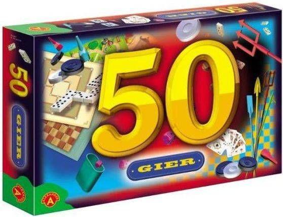 50 gier chińczyk, bierki, młynek Gra planszowa