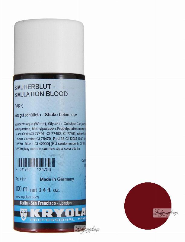KRYOLAN - SIMULATION BLOOD - Sztuczna krew - 100 ml - ART. 4111 - DARK