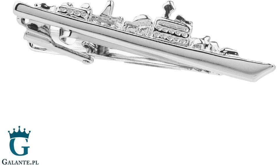 Spinka do krawata okręt wojenny x2 t171