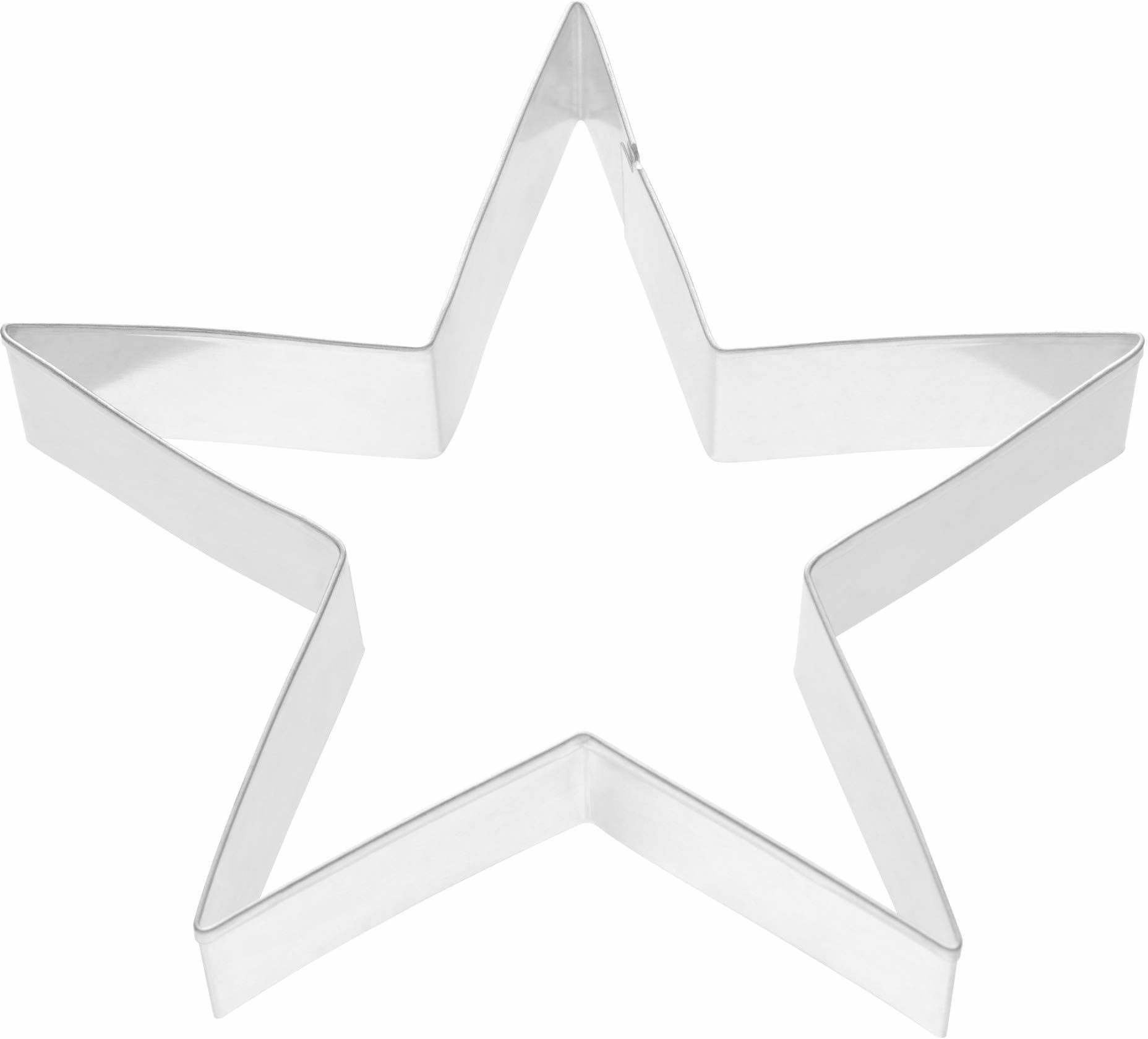 KAISER Boże Narodzenie foremka do ciastek w kształcie gwiazdy w kształcie piernika. Najwyższa jakość, wykonana ze stali nierdzewnej, lekka, precyzyjne cięcie, bezpieczna, przyjemna obsługa