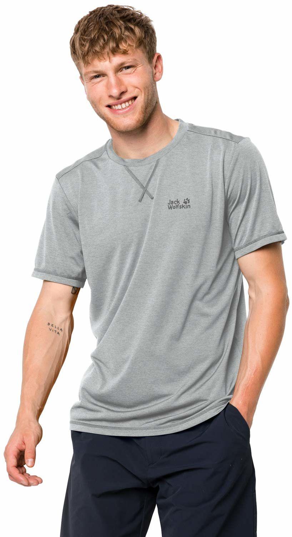Jack Wolfskin Crosstrail T, Silver Grey, M koszulka męska