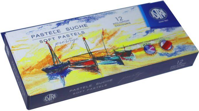 Pastele suche Astra Prestige 12 kolorów kwadratowe 323120001