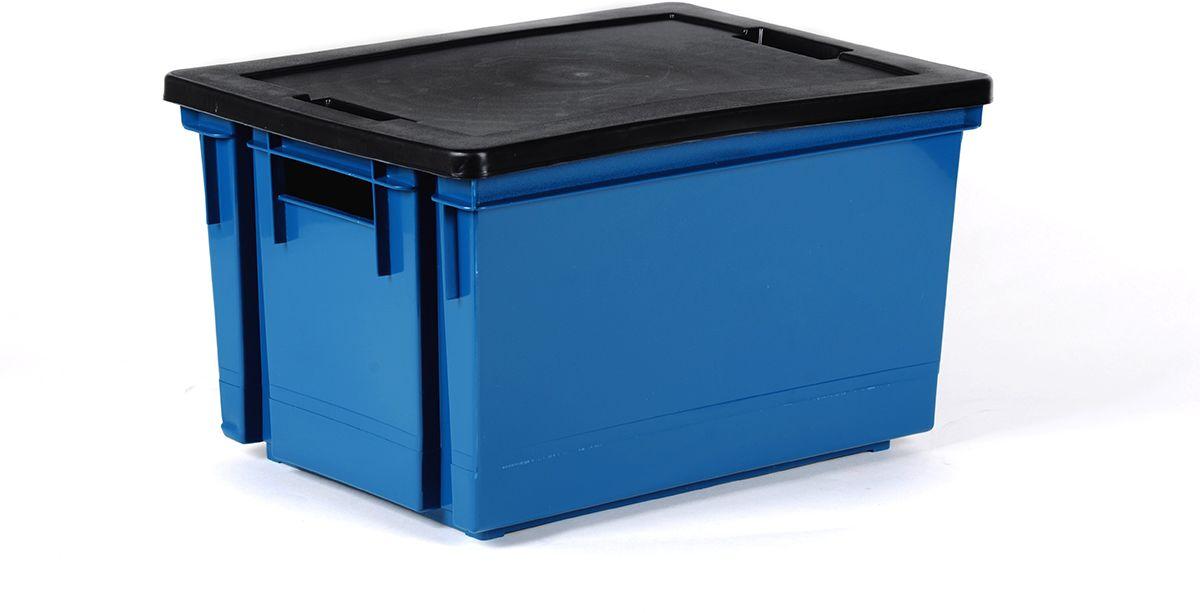 Pudło Handling 50L z pokrywą niebieskie