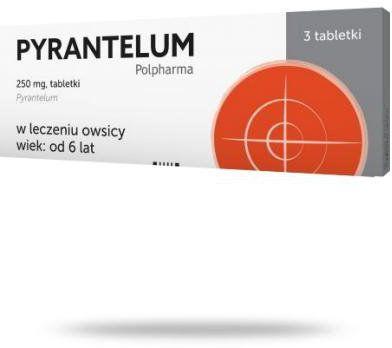 Pyrantelum 250mg 3 tabletki