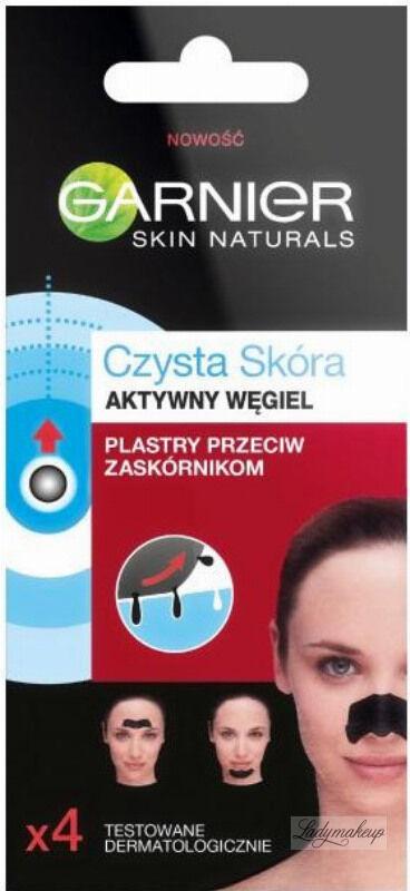 GARNIER - CZYSTA SKÓRA - Aktywny Węgiel - Plastry przeciw zaskórnikom - 4 sztuki