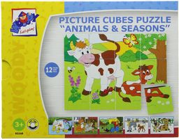 """Woodyland 4 x 5""""Różne zwierzęta"""" zdjęcie kostki puzzle (20 części)"""