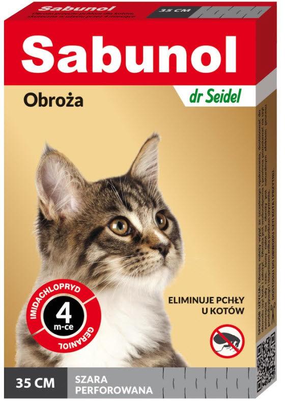 Sabunol obroża szara przeciw pchłom kot 35 cm