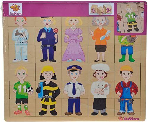 Eichhorn 100005408 - puzzle wkładane, miks i Match, puzzle z 30 częściami, 26 x 22 cm, FSC 100% certyfikowana sklejka lipowa