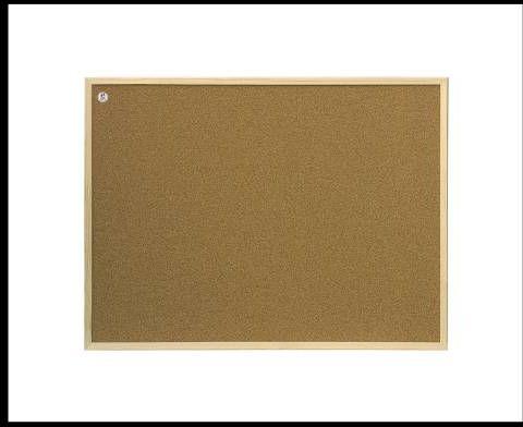 Tablica korkowa rama drewniana 60 X 90 cm 2X3 - X04219
