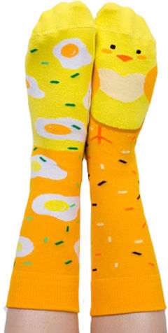 Skarpety kolorowe z serii Happy Friends Socks - kurczaczek Chicken Out