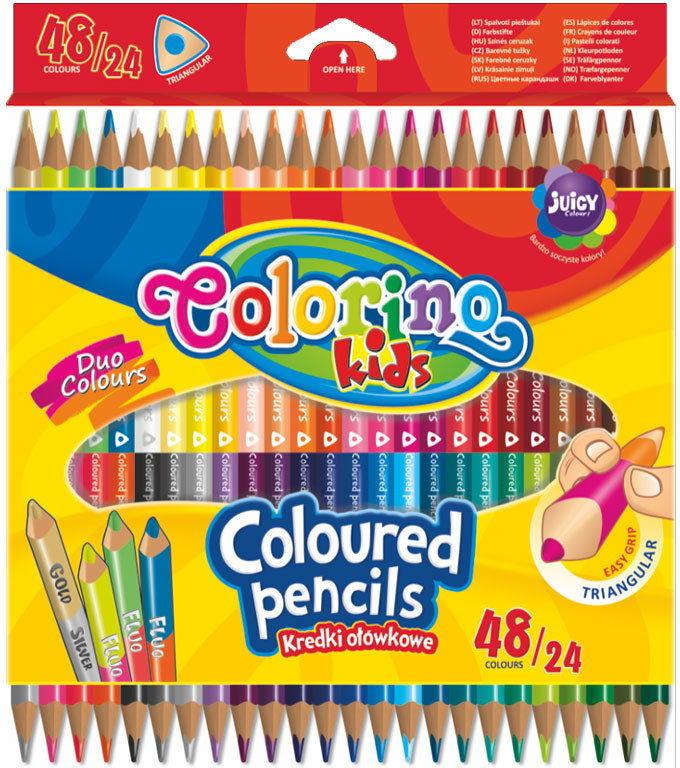 Patio - Kredki ołówkowe trójkątne 24 szt. 48 kolorów 51705