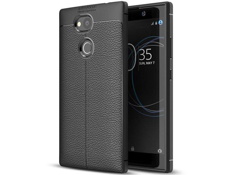 Etui pancerne Alogy leather case Sony Xperia L2 czarne + Szkło