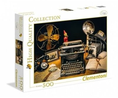 Puzzle Clementoni 500 - HQ - Maszyna do pisania, The Typewriter