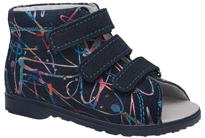 Sandałki Profilaktyczne Ortopedyczne Buty DAWID 1041 Granatowe M8