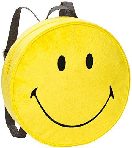 Nici 40727 - plecak Smiley żółty plusz Ø 30 x 10 cm