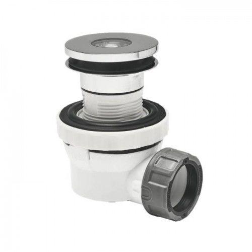 Syfon umywalkowy niski,membrana antyzapachowa XS-PURE Quick-Clac 23-51 mm