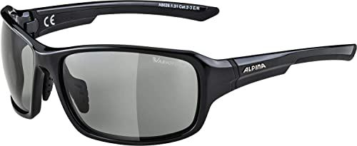 ALPINA Unisex - Dorośli, LYRON V Okulary sportowe, black gloss/black, One Size