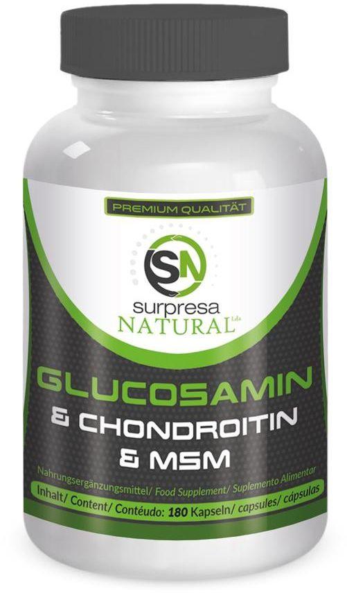 Surpresa NATURAL Glukozamina, chondroityna i MSM 180 kaps.