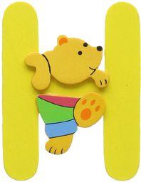 Woodyland 6 x 8 cm wys. alfabet z niedźwiedziem