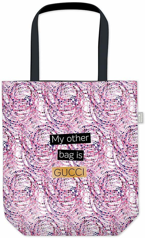 Grafik Werkstatt torba na zakupy z zabawnym napisem, składana torba na zakupy lekka torba, liliowy (wielokolorowa) - 62030