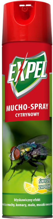 Spray na muchy, komary do domu Expel Muchospray 400ml.