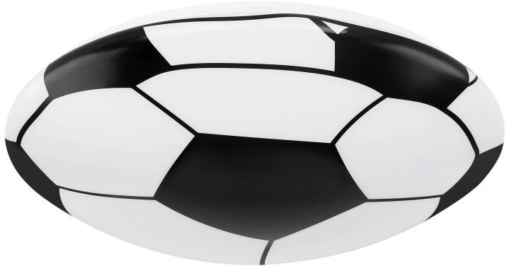 Globo LEMMI 54009D1 plafon lampa sufitowa biało-czarna dekor piłka nożna LED 18W 3000K 36cm