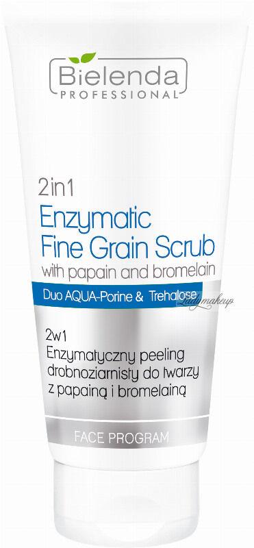 Bielenda Professional - 2in1 Enzymatic Faine Grain Scrub - 2w1 Enzymatyczny peeling drobnoziarnisty do twarzy z papiną i bromelainą - 150 g